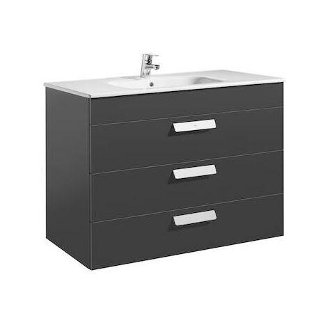 Unik (mueble de baño Roca con tres cajones y lavabo) Debba 1000x460x720mm