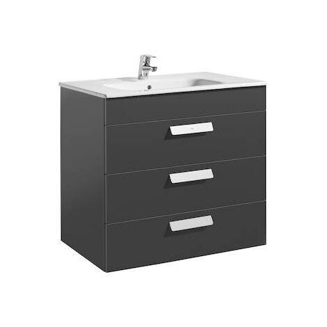 Unik (mueble de baño Roca con tres cajones y lavabo) Debba 800x460x720mm