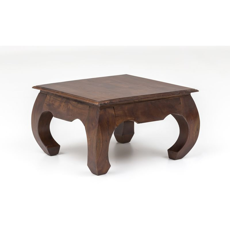 Unikat Couchtisch Massivholz Akazie 75cm Wohnzimmertisch Holz Tisch Handarbeit A00000316 - INDEX-LIVING