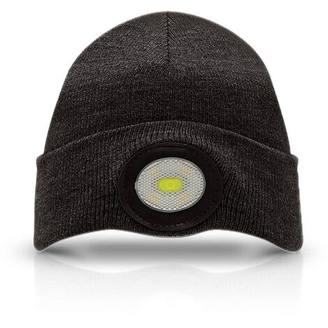 Unilite Beanie Hat Black with USB Rechargeable LED Head Light
