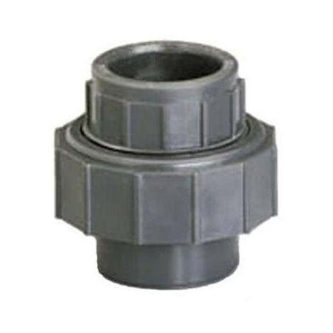 Union 3 pieces PVC - Female-Female - Pressure to be glued - Diameter 20 mm 40873C