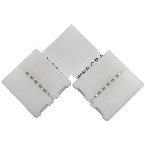 Unión / conector L rígido Pin Click para tiras LED RGB+CCT 6 pin