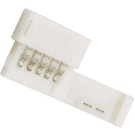 Unión / conector rígido Pin Click para tiras LED RGBW 5 pin