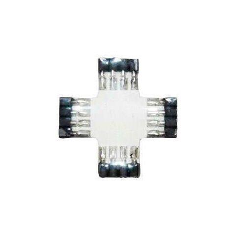 Unión / conector tipo cruz para tiras LED RGB