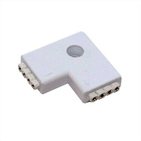 Unión / conector tipo L tira RGB