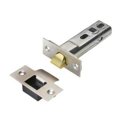"main image of ""Union Locks 2.5"" HD Tubular Latch - Polished Brass & Stainless Steel Dual Finish"""
