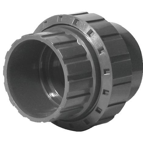 Union PVC pression à coller droit FF 40