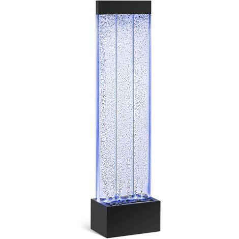 Uniprodo Pared de Agua Fuente para Muro LED Potencia 18,8W 150 cm