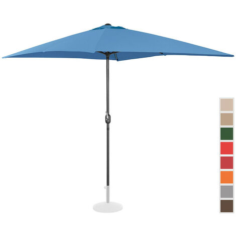 Uniprodo Sonnenschirm groß Gartenschirm (rechteckig, 200 x 300 cm, blau)