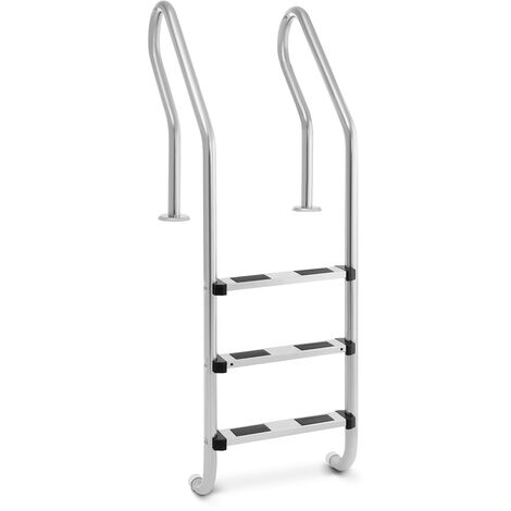 Uniprodo UNI_POOL_LADDER_1600 Poolleiter Edelstahl 3 Stufen