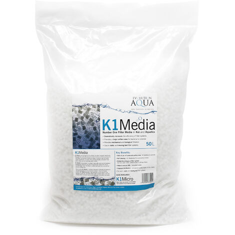 Unique Koi K1 Media 50L 4 sections moving bed matériaux de filtration