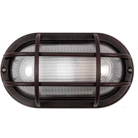 Unique Rustic Brown Cast Aluminium Outdoor Oval Bulkhead Wall Light By Hy Homewares P 897084 7338353 1 Jpg