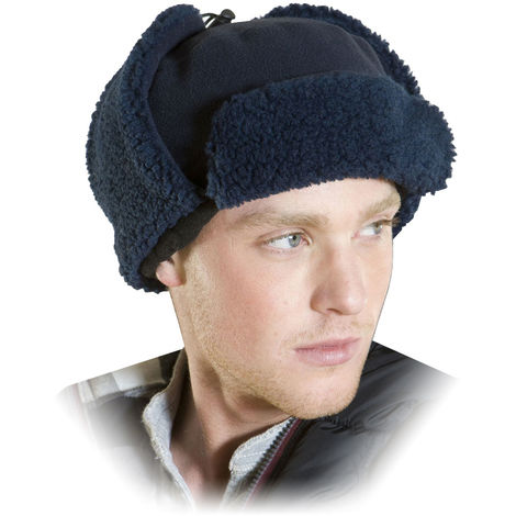 Unisex Adult Quality Fleece Trapper Style Winter Hat with Warm Thermal Lining
