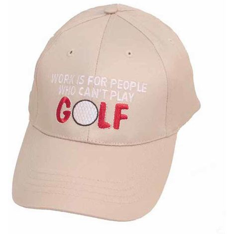 Unisex Baseball Cap Work Is For People Who Can't Golf Logos Summer Hat Beige