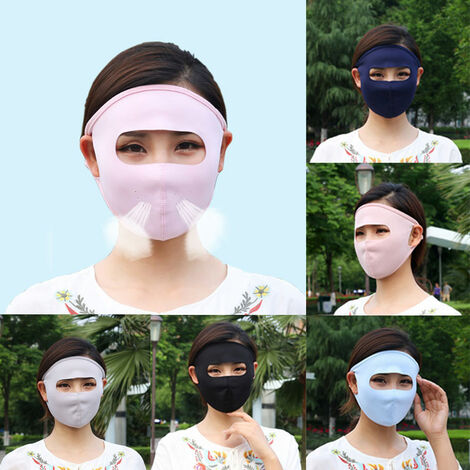 Unisex Face Shield Thin Breathable Dustproof Anti-Droplet Sunblock Earloop Protective Shield