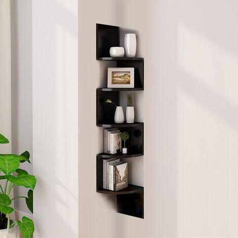 Unit Wall Shelf, Corner Cabinet Shelf, Corner Cabinet Shelf Hanging Shelf Corner Wall Shelf, color: black