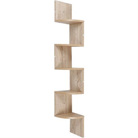 Unit Wall Shelf, Corner Cabinet Shelf, Corner Cabinet Shelf Hanging Shelf Corner Wall Shelf, color: Oak