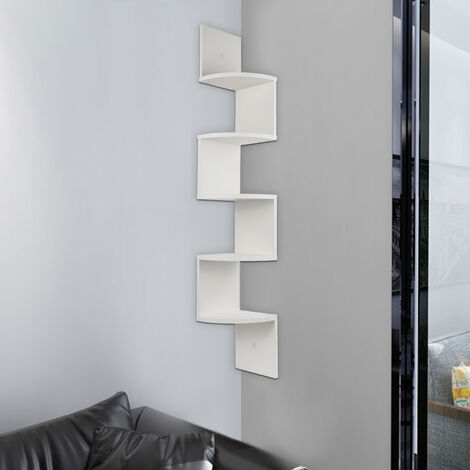 Unit Wall Shelf, Corner Cabinet Shelf, Corner Cabinet Shelf Hanging Shelf Corner Wall Shelf, color: white