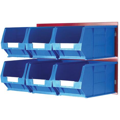 Unité de stockage de panneaux à persiennes RS PRO Bleu, Rouge en PP, 300mm x 455mm x 300mm