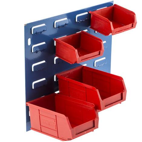 Unité de stockage de panneaux à persiennes RS PRO Bleu, Rouge en PP, 50mm x 100mm x 90mm