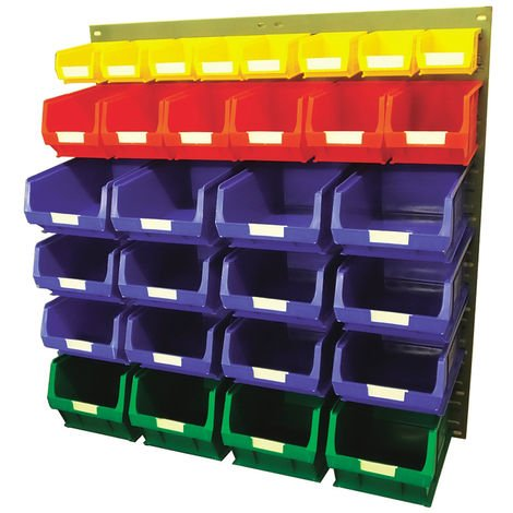 Unité de stockage de panneaux à persiennes RS PRO Bleu, vert, rouge, jaune en Acier, 946mm x 914mm
