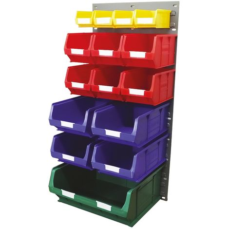 Unité de stockage de panneaux à persiennes RS PRO Bleu, vert, rouge, jaune en PP, 946mm x 457mm