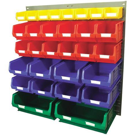 Unité de stockage de panneaux à persiennes RS PRO Bleu, vert, rouge, jaune en PP, 946mm x 914mm