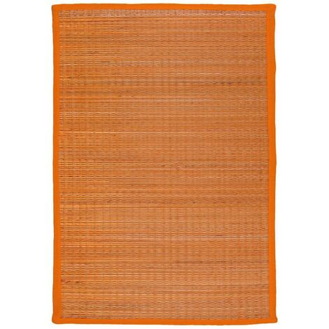 UNITED - <p>Tapis en jonc de mer orange 70x110</p> - Orange