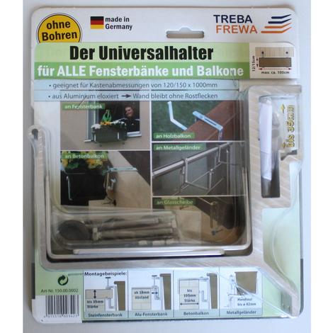 Univ. Blumenkastenhalter Fensterbank + Balkon ohne Bohren Blumenkastenhalterung
