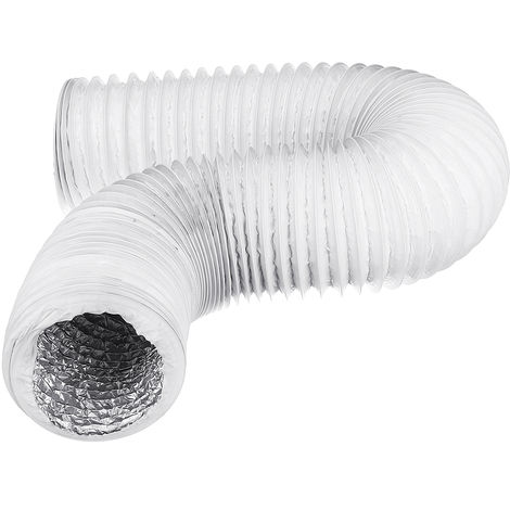 Universal 125mm 1.8M Portable Aluminum Foil Air Conditioner Exhaust Pipe Tube
