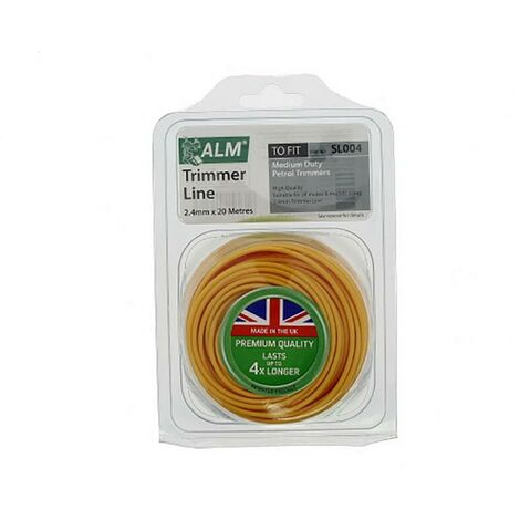 """main image of """"Universal 2.4mm Yellow Round Grass Trimmer Cutting Line 20m"""""""