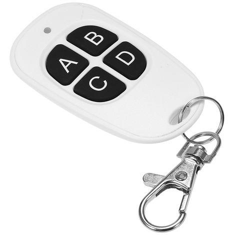 Universal 315MHz de control remoto inalambrico de 4 botones de copia Clonacion puerta de garaje de control remoto clave de la duplicadora, blanca