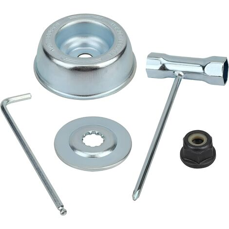 "main image of ""Universal brush cutter head nut kit, for thermal brush cutter, stihl, echo, ryobi head"""
