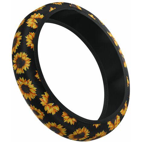 Universal Car Steering Wheel Cover Grip Glove Waterproof Sunflower Protections