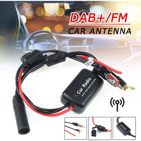 Universal DAB + FM Cable divisor de antena digital para automóvil Radio + Amplificador
