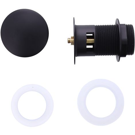 Universal drain pop - up waste large with overflow wash basin drain 45mm Black