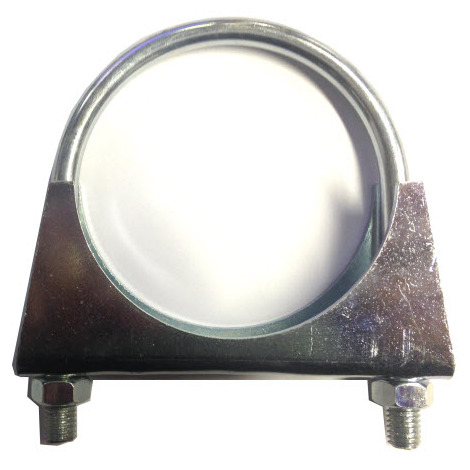 Universal Exhaust pipe clamp + U-bolt - 89 mm - BZP Mild Steel