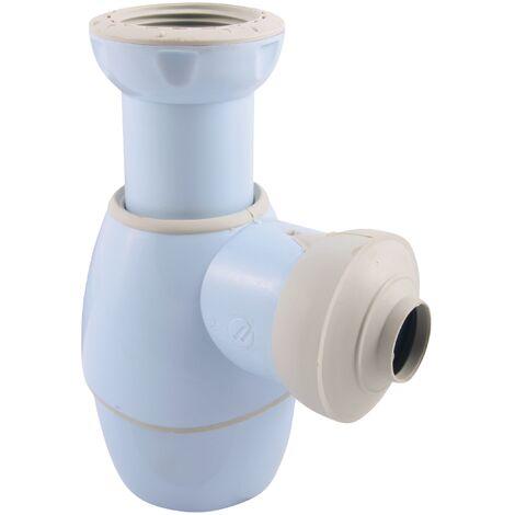 Universal Flaschengeruchsverschluss | Einsetzbar in Bad und Küche | Waschbecken | Waschtisch | Handwaschbecken | Bidet | Küchenspüle | Blau