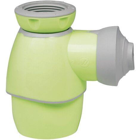 Universal Flaschengeruchsverschluss | Einsetzbar in Bad und Küche | Waschbecken | Waschtisch | Handwaschbecken | Bidet | Küchenspüle | Grün