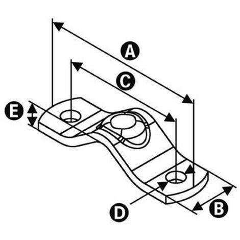 "Universal-Halbschelle verzinkt, 1"" (33,7 mm)...2"" (60,3 mm)"