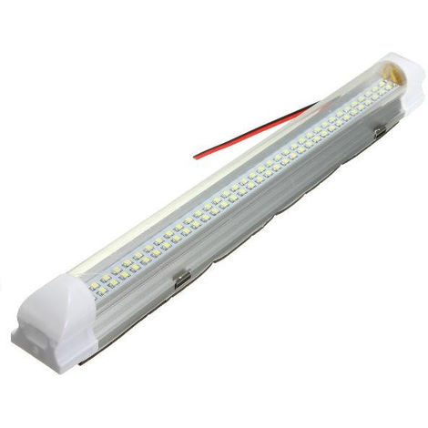 Universal Interior 72 LED Lámpara de tira de luz blanca Interruptor de encendido / apagado Caravana Auto LAVENTE