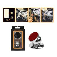Universal Magnetic Phone Holder Stick On Dash Mount Magnet Disc In Car Silver