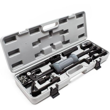 Universal Schlaghammer 11tlg Ausbeulsatz Gleithammer Ausbeulwerkzeug