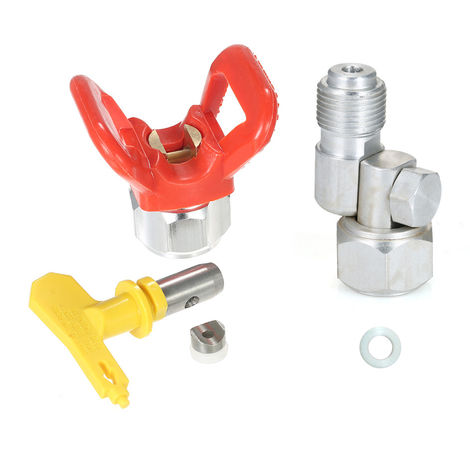 """Universal Silver Joint 7/8 """"F-7/8"""" M, With Sprayer Base Protector And 517 Tip"""