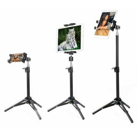 Universal Table Tripod Mount Stand 360 Holder For iPad iPhone Tablet Studio Show