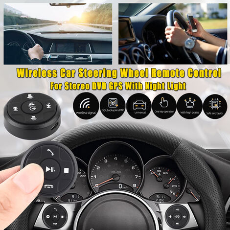 Universal Wireless Car Steering Wheel Button Remote Control for DVD Stereo GPS with Night Light