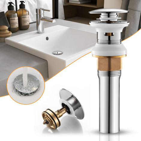 Universal WOOHSE Drain Set with Overflow for Wash Basin