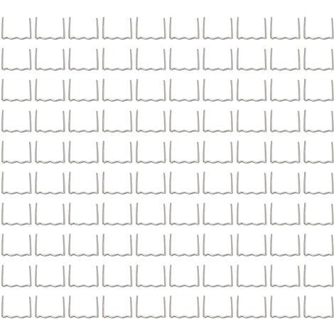 """main image of """"Universales 100 piezas / juego de grapas planas de onda caliente precortadas de 0,6 mm a 0,8 mm para reparacion de grapadora de plastico, herramienta de reparacion de soldador, esquina exterior de 0,8 mm"""""""