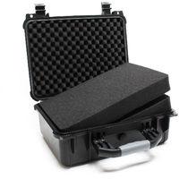 Universalkoffer Outdoor Schutzkoffer Anpassbar Kamerakoffer Fotokoffer Schwarz L 40,6x33x17cm
