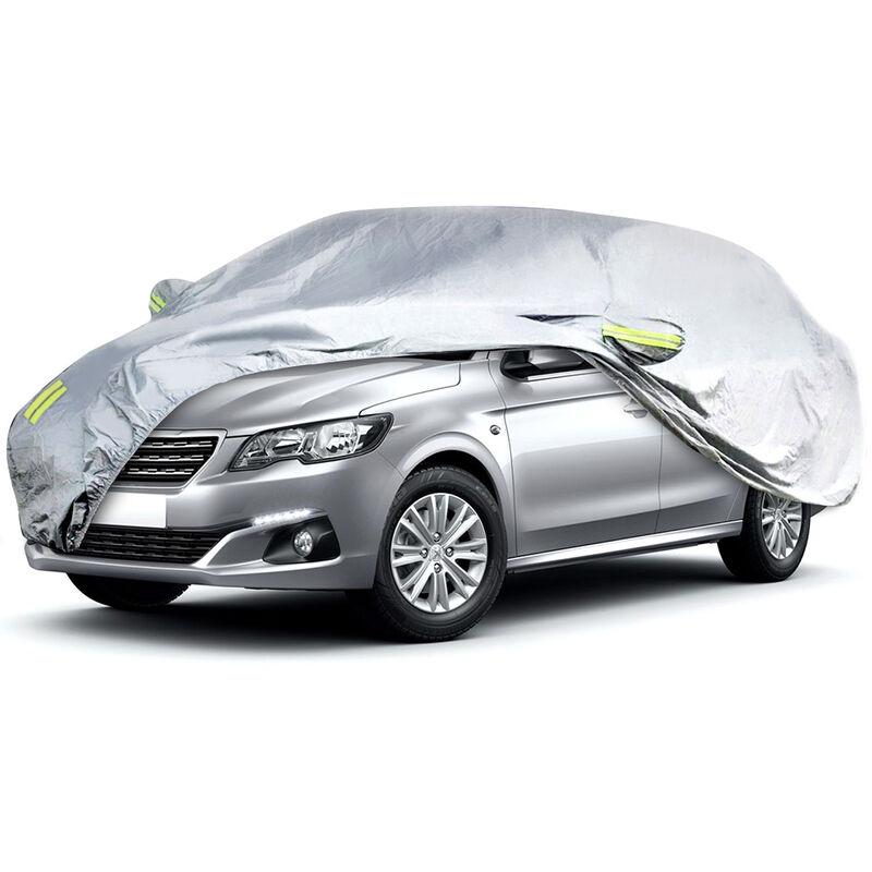 530 * 200 * 150cm Couvertures de voiture Couverture complète Auot Sun UV argent XXL